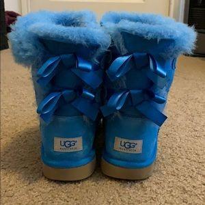 Blue Bailey Bow Uggs